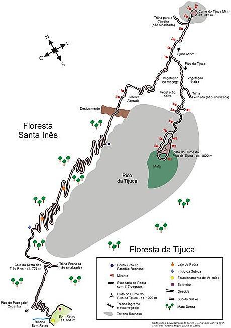 Mapa Pico da Tijuca